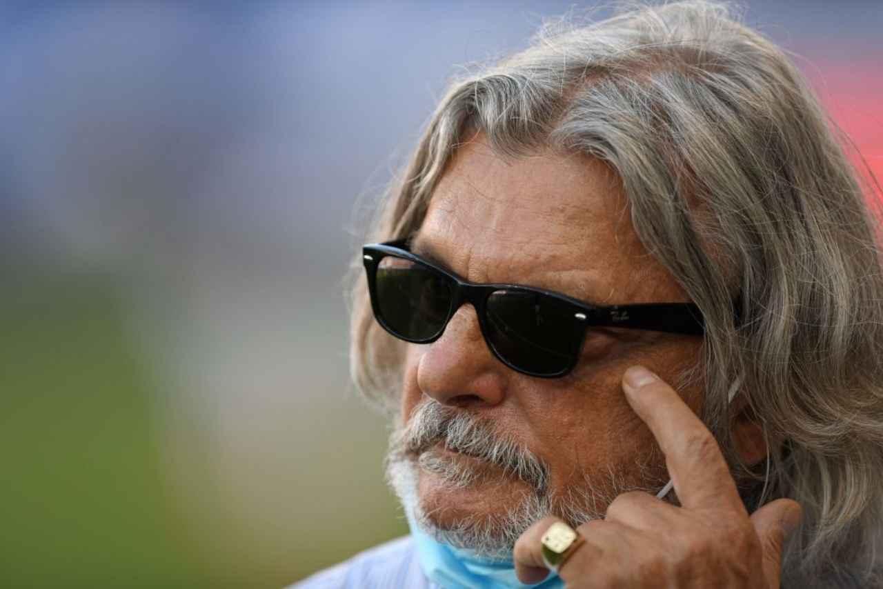Sampdoria minacce presidente Ferrero