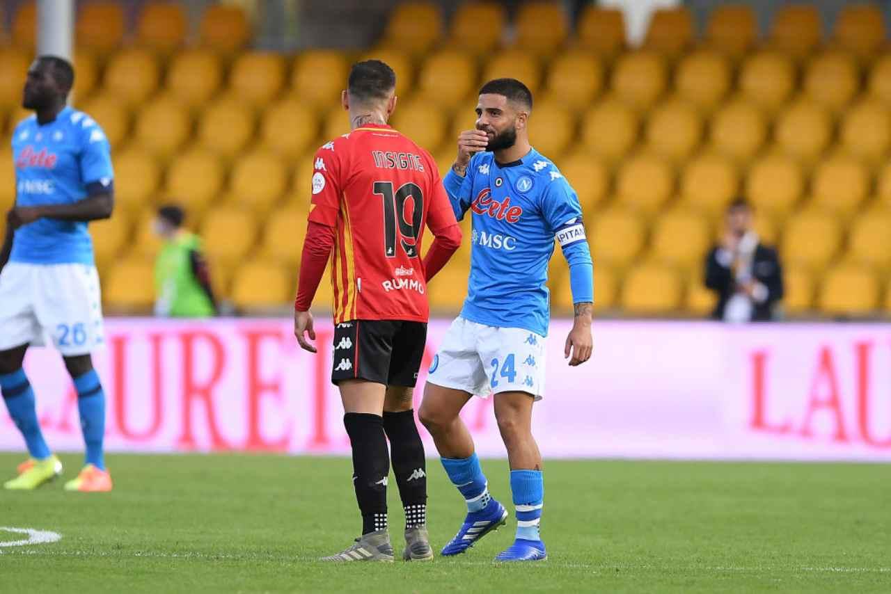Napoli Benevento streaming gratis