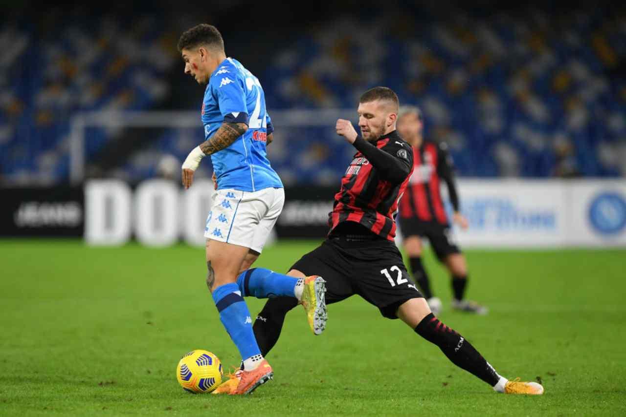 Napoli Milan streaming gratis
