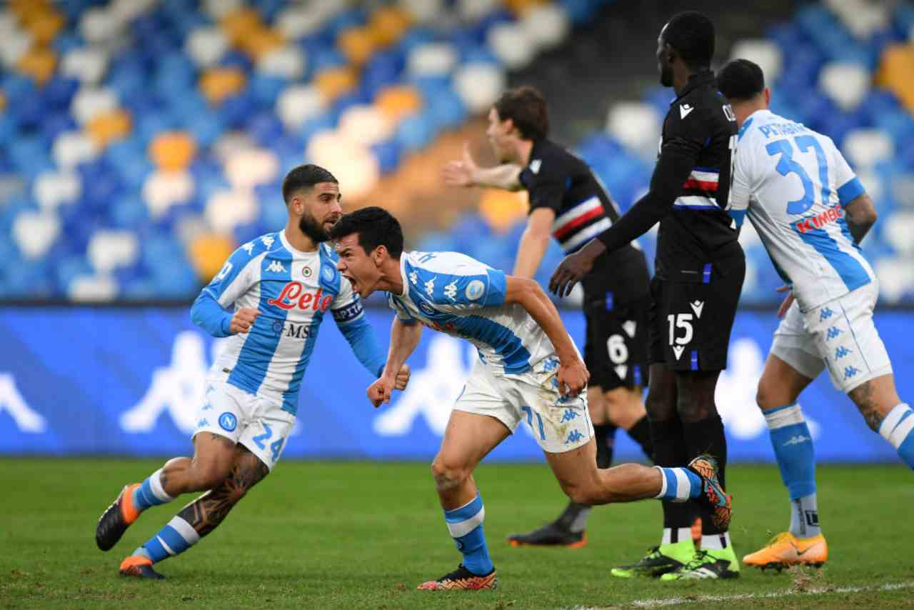 Sampdoria Napoli streaming gratis