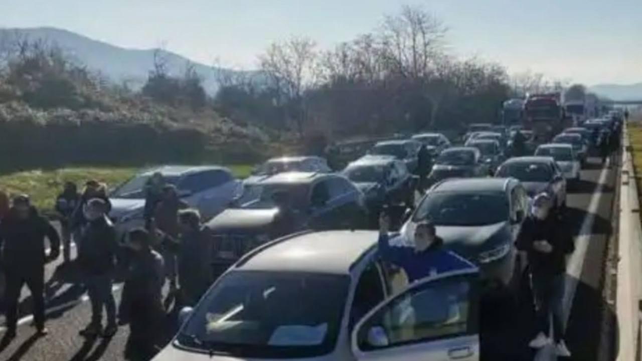 Autostrada bloccata proteste
