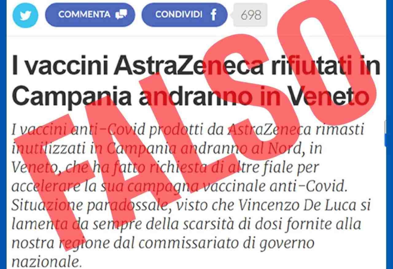 Campania vaccini AstraZeneca
