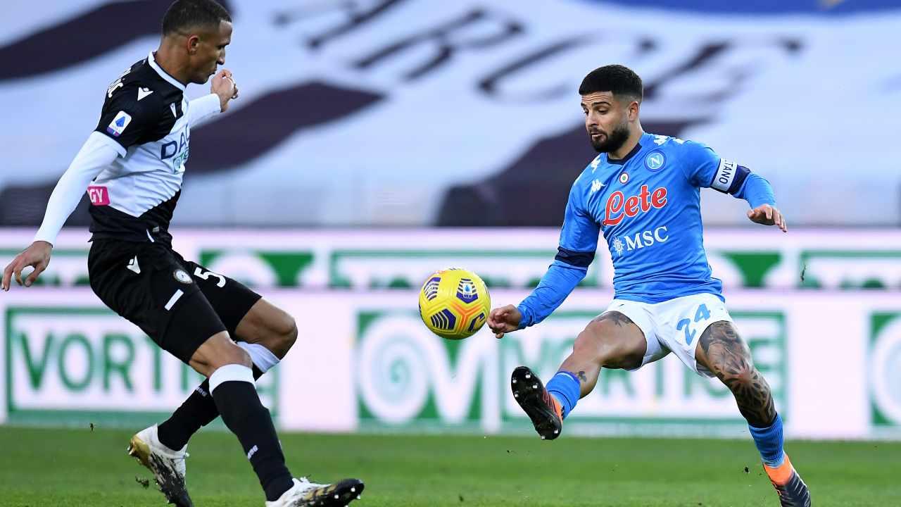 Napoli Udinese streaming