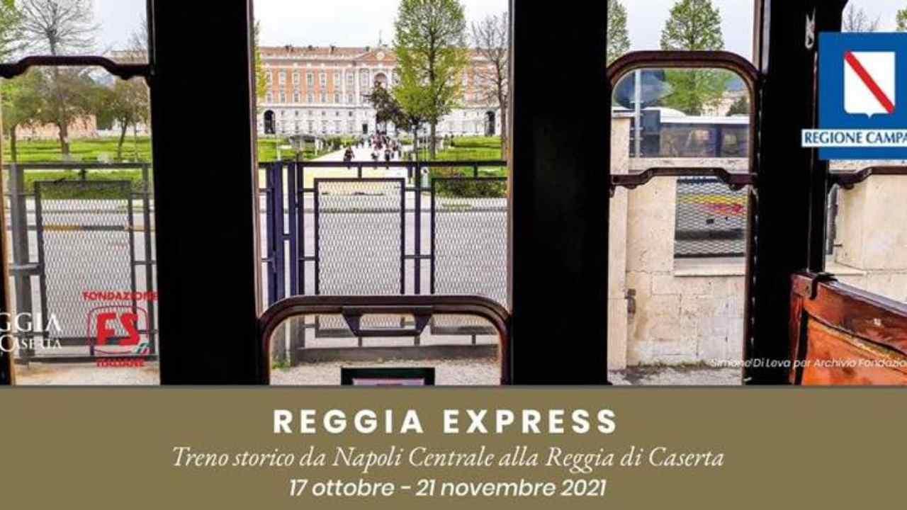Reggia Express, il treno d'epoca da Napoli a Caserta: orari e tariffe